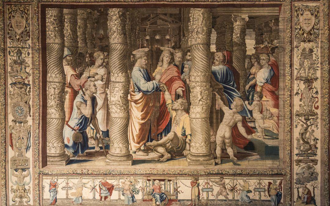 guarigione dello storpio di Michelangelo